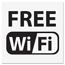 US Stamp Sign Free Wi Fi