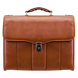 McKleinUSA North Park Leather Briefcase Brown