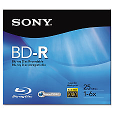 Sony Blu ray Recordable Media BD
