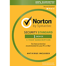 Norton Security Standard For 1 PC