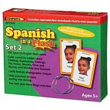 Edupress Spanish In A Flash Cards