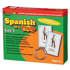 Edupress Spanish In A Flash Cards