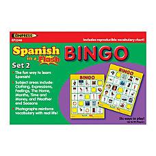 Edupress Spanish In A Flash Bingo