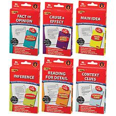 Edupress Reading Comprehension Practice Cards Red