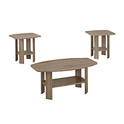 Monarch Specialties 3 Piece Table Set