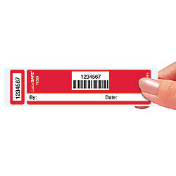 LabelSAFE Void Labels Red 1 x