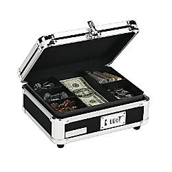 Vaultz Cash Box Black