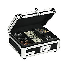 Vaultz Cash Box Black
