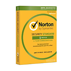 Symantec Norton Security Standard For 1