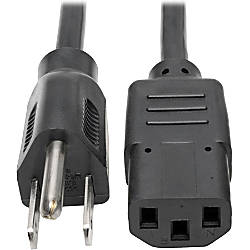 Tripp Lite 2ft Computer Power Cord