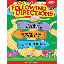 Creative Teaching Press Following Directions Grades