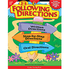 Creative Teaching Press Following Directions Grades
