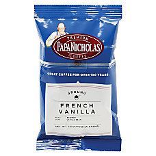 PapaNicholas Coffee French Vanilla Coffee Packets