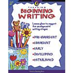Creative Teaching Press Teaching Beginning Writing