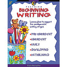 Creative Teaching Press Teaching Beginning Writing