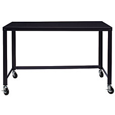 Lorell Steel Frame Mobile Workstation Black