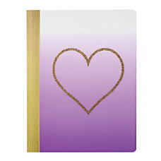 Divoga Composition Notebook Hearts Collection Wide