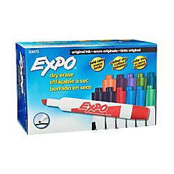 EXPO Chisel Tip Dry Erase Markers