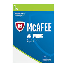 McAfee AntiVirus Plus 2017 For 1
