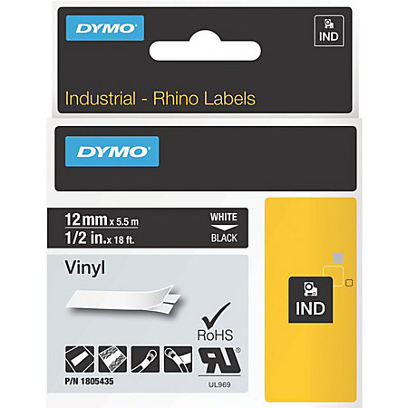 dymo white on black color coded label black newell office depot