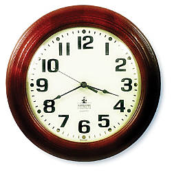 SKILCRAFT 12 Executive Hardwood Clock Mahogany