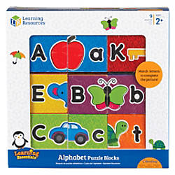Learning Resources Alphabet Puzzle Blocks Skill