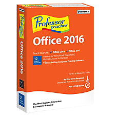 Professor Teaches Office 2016 Traditional DiscDownload