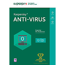 Kaspersky Anti Virus 2016 For 3