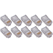 4XEM 50PK Cat5e RJ45 Ethernet PlugsConnectors