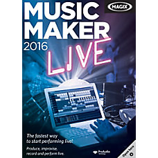 MAGIX Music Maker 2016 Live Traditional