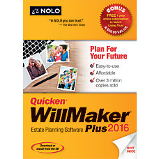 Quicken WillMaker Plus 2016 Traditional DiscDownload