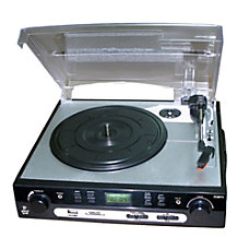 Pyle PLTTB9U USB Record Player Turntable
