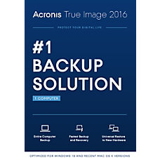 Acronis True Image 2016 For 1
