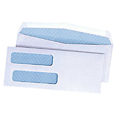 Quality Park Double Window Envelopes With