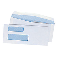 Double Window Envelopes With Gummed Flap