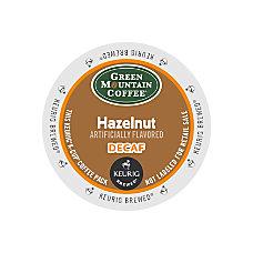 Green Mountain Coffee Hazelnut Decaffeinated Coffee