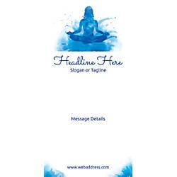 Custom Vertical Banner Meditation