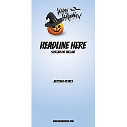 Custom Vertical Banner Blue Halloween