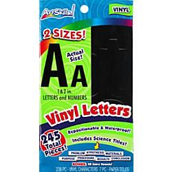 Artskills Vinyl Letters Black Pack Of 214 By Office Depot
