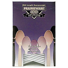 Prairie Polystyrene Spoons White Pack Of
