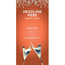 Custom Vertical Banner Champagne Flutes