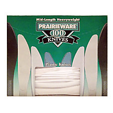 Prairie Polystyrene Knives White Box Of
