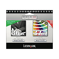 Lexmark 36XL37XL 18C2249 High Yield BlackColor