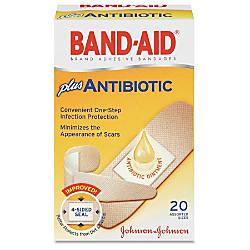 Band Aid Brand Antibiotic Bandages Assorted
