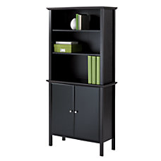 Realspace Chase Bookcase With Doors 63