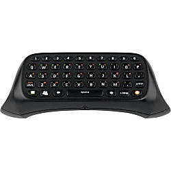 Xbox 360 Black Chatpad Wired Keyboard