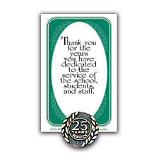 25 Years Of Service Lapel Pin