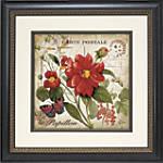 Crystal Art Red Floral Postcard 1