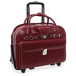 McKleinUSA Roseville Leather Ladies Briefcase Red