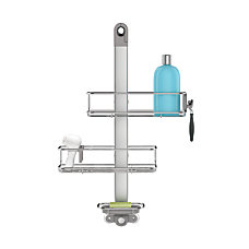 simplehuman Adjustable Shower Caddy Brushed Aluminum